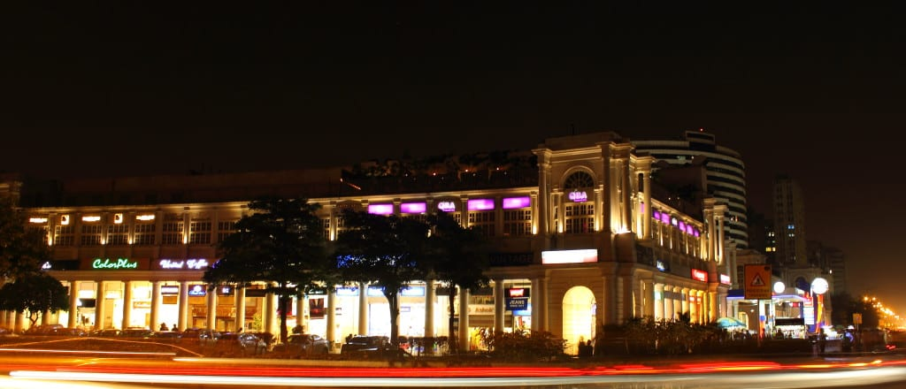 View_of_Connaught_Place_at_Night