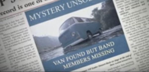 Van found but band members still missing.
