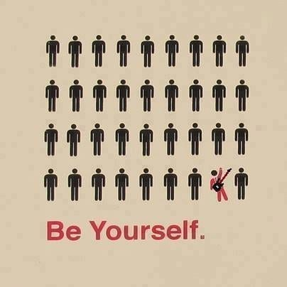 Just Be Yourself! But, How? 1
