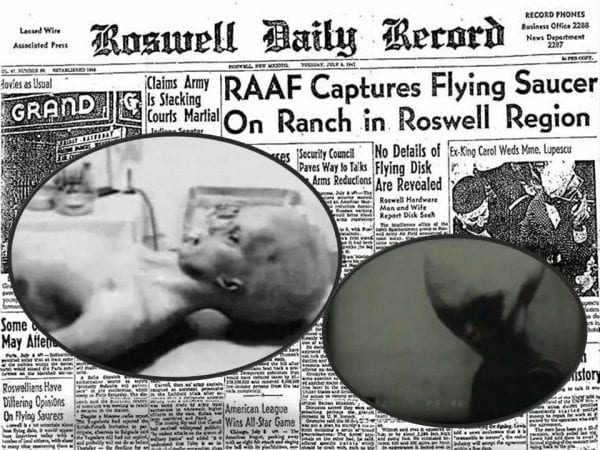 flying saucer - Roswell UFO incident