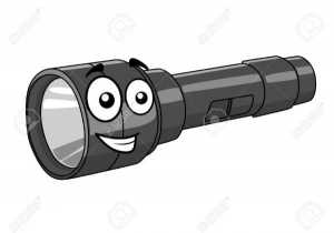 27842870-grey-portable-handheld-cartoon-torch-with-a-happy-smile-isolated-on-white-stock-vector
