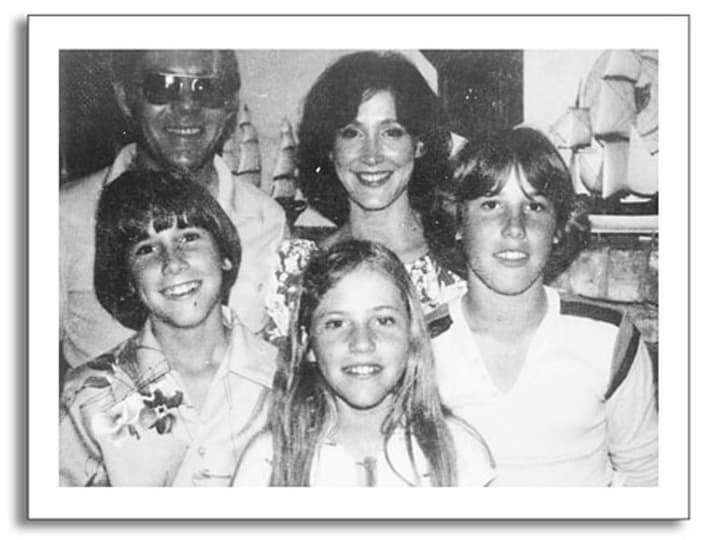 The Sparks family with Dana front centre and Nicholas front right