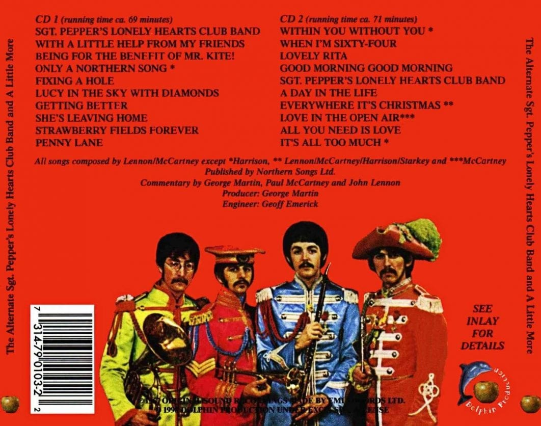 Image result for sgt pepper's lonely hearts club band track list