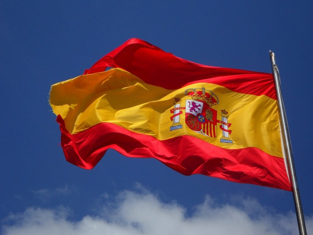 Flag of Spain to establish first connection with the reader.
